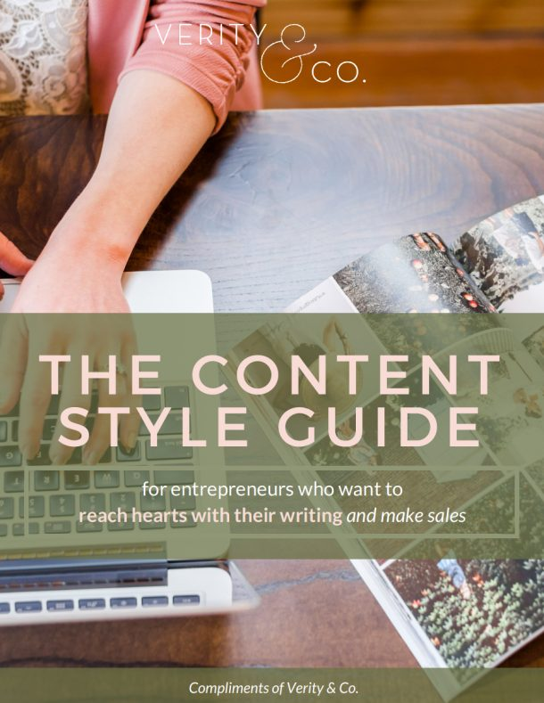 The Content Style Guide Workshop - Verity & Co