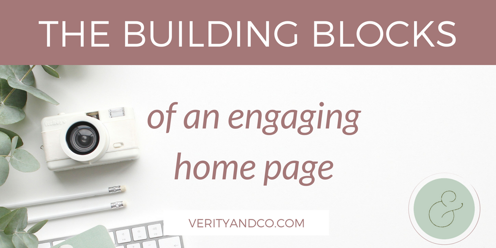 Building blocks of an engaging home page