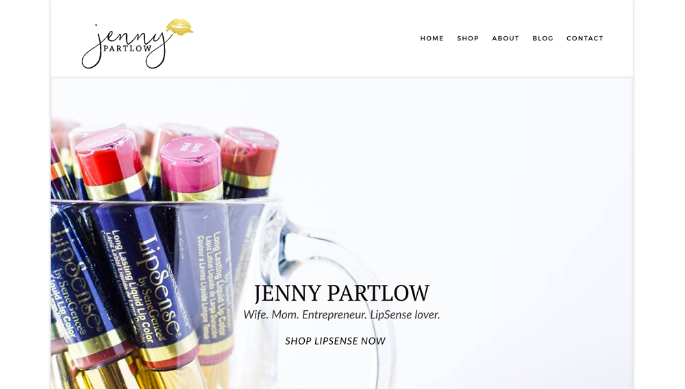 Jenny Partlow: Wife, Mom, Entrepreneur, LipSense Lover