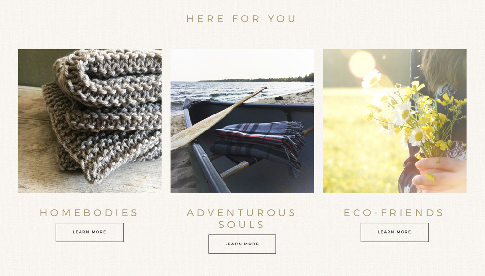Website Design: WormeWoole - Verity & Co.