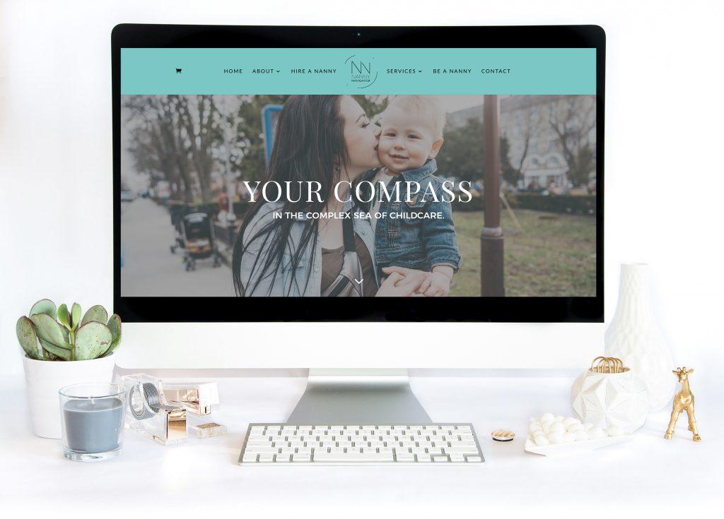 Rebrand, web design, copywriting - Nanny Navigator